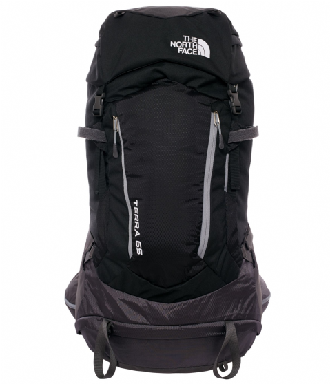 The North Face Unisex Terra 65 Backpack - Black/Asphalt Grey - Hiking